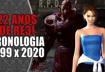 Resident Evil 3: Cronologia de Original x Cronologia do Remake
